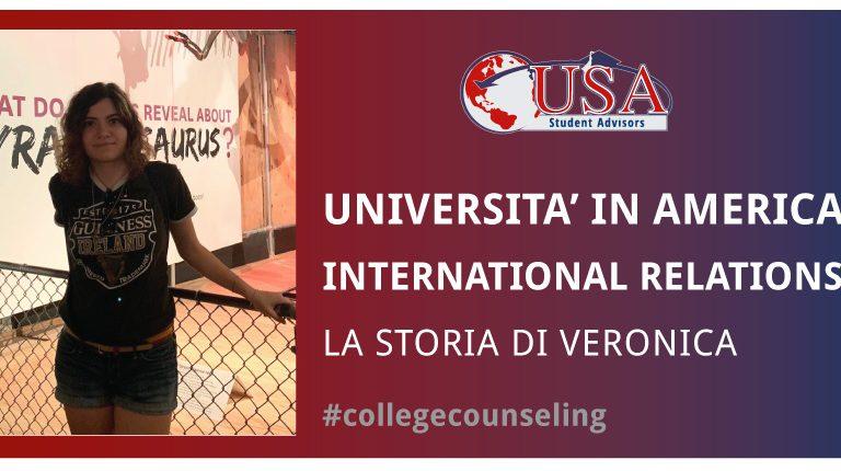 Veronica frequenterà l'università in America