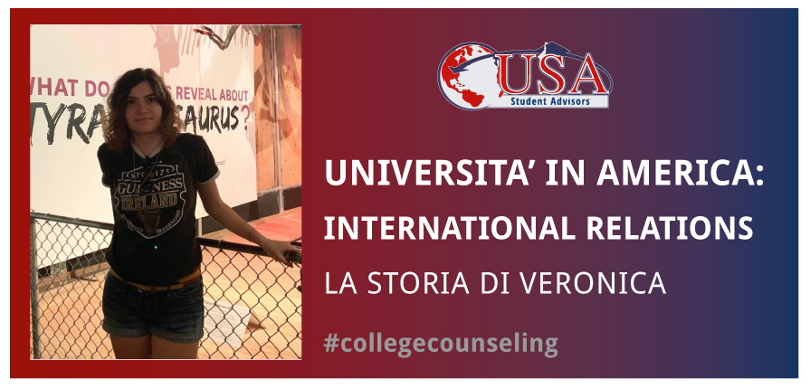Veronica frequenterà l'università in America