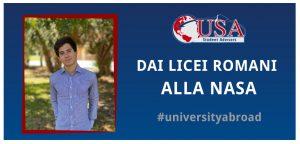 Giulio laureato in America va a lavorare alla NASA grazie a UNI Student Advisors